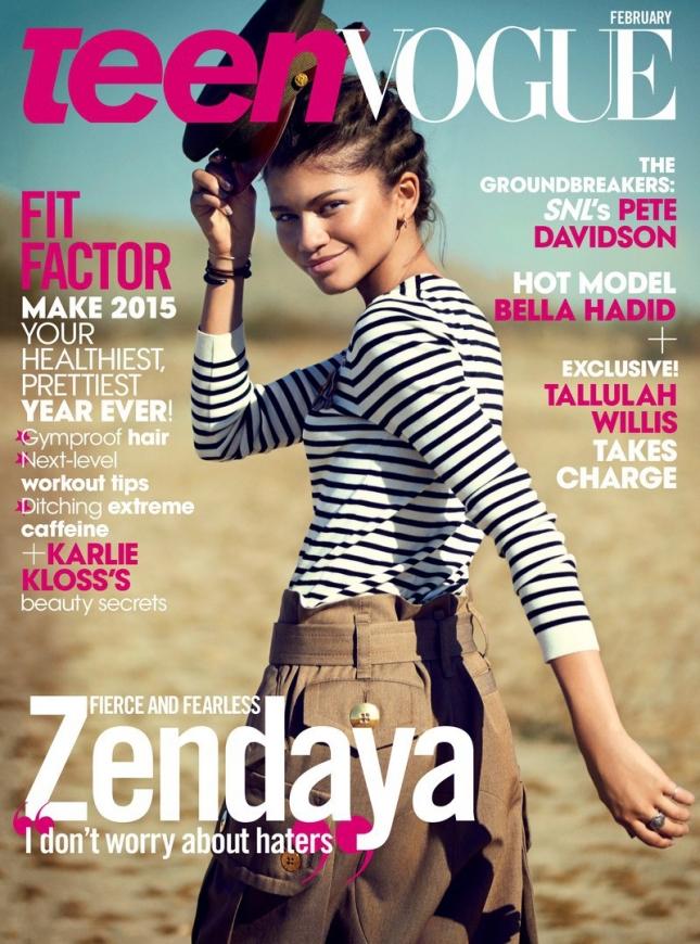 Зендая Коулман на обложке Teen Vogue, февраль 2015