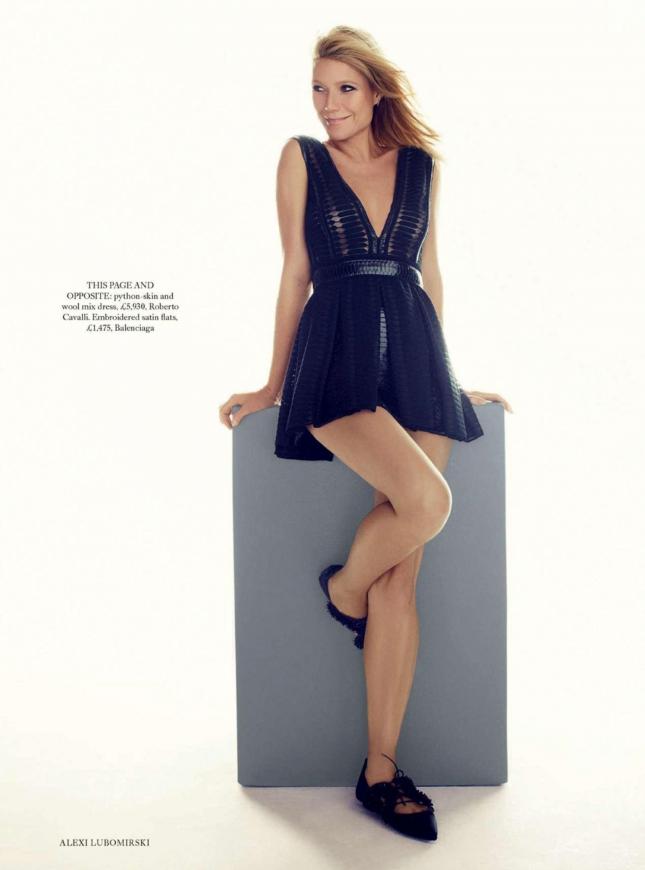Гвинет Пэлтроу для февральского Harper's Bazaar Британия