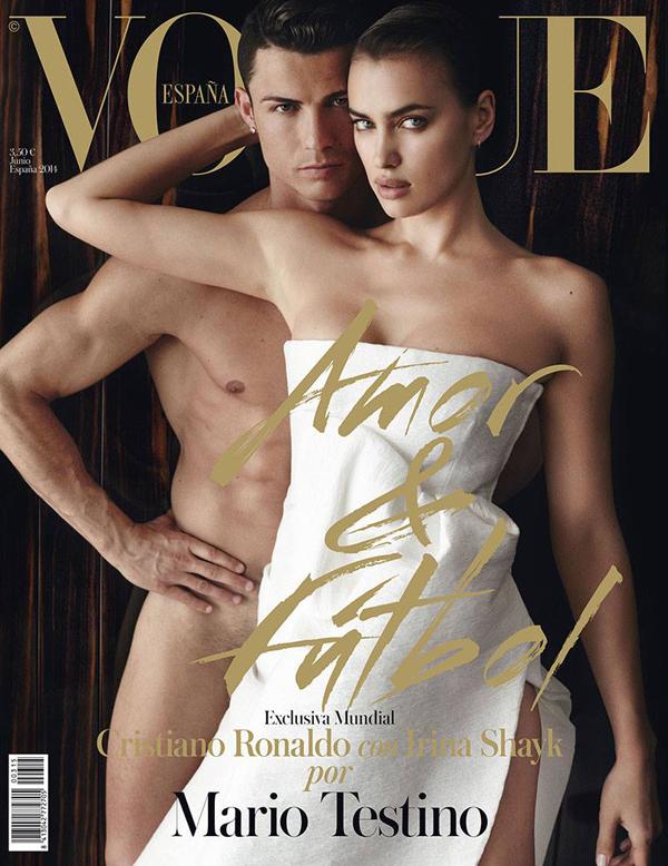Ирина Шейк и Криштиану Роналду на обложке Vogue Испания