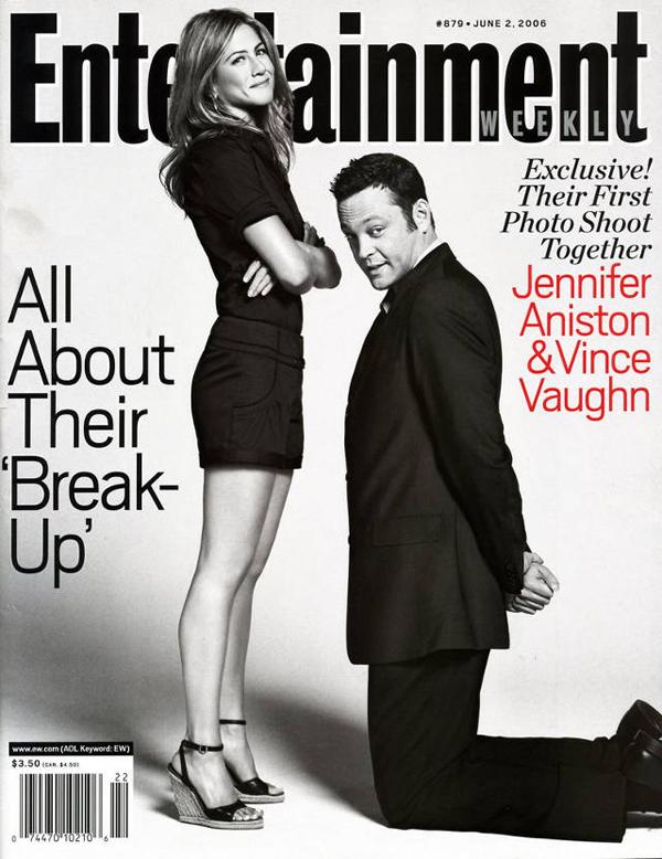 Дженнифер Энистон и Винс Вон на обложке Entertainment Weekly