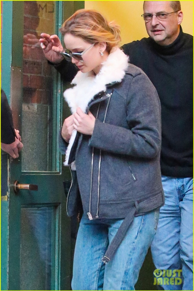 EXCLUSIVE: Jennifer Lawrence seen out and about in Tribeca, NYC