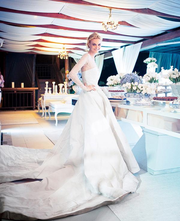 свадебное фото Кэролайн Трентини