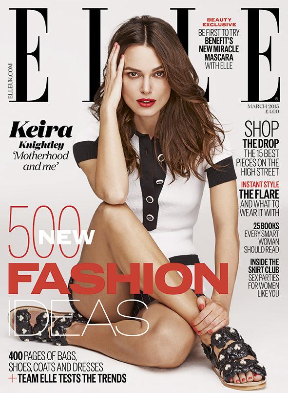 Кира Найтли на обложке Elle Uk, март 2015