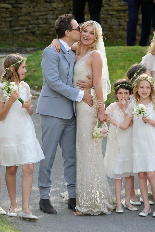 свадебное фото Кейт Мосс