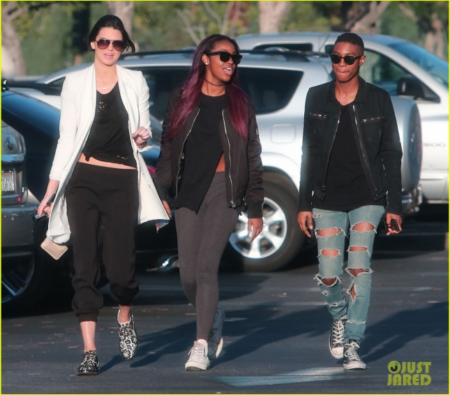 Kendall Jenner Out For Lunch With Some Friends