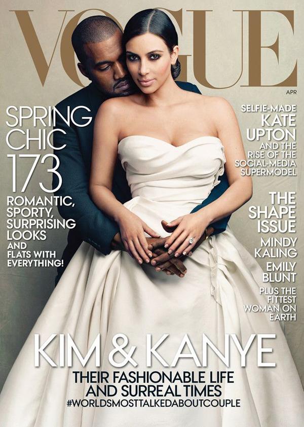 Ким Кардашьян и Канье Уэст на обложке Vogue US