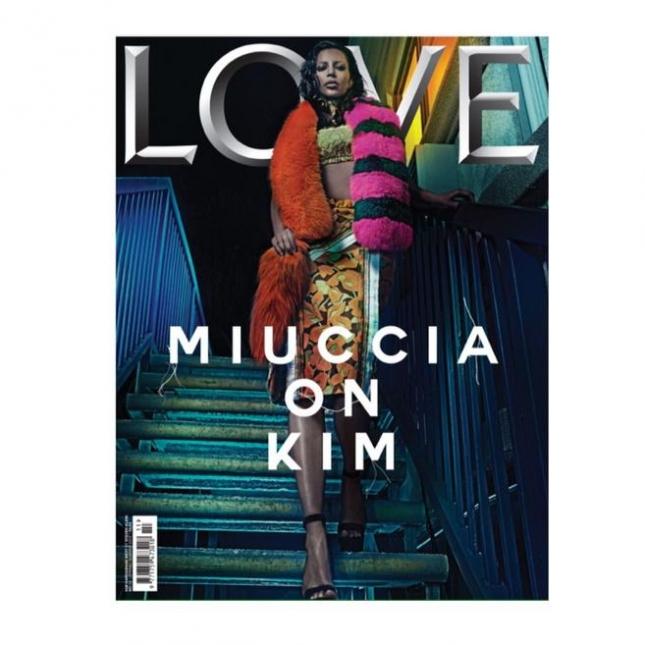 Ким Кардашьян на обложке Love magazine