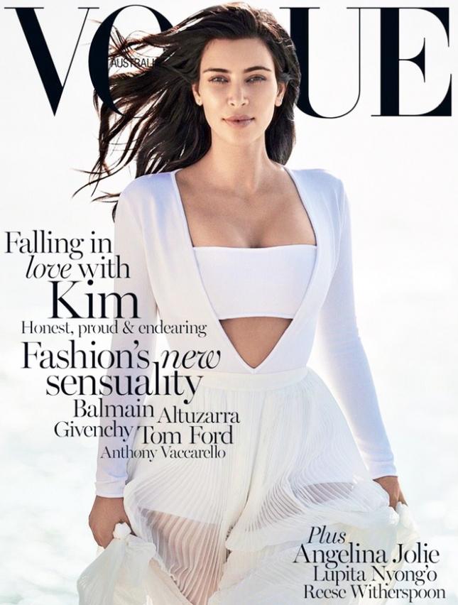Ким Кардашьян на обложке Vogue Австралия, февраль 2015