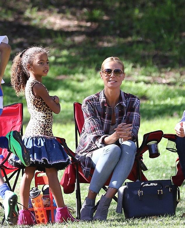 Хайди Клум с младшей дочкой