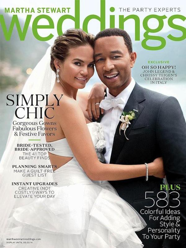 Крисси Тейген на обложке журнала Martha Stewart's Wedding