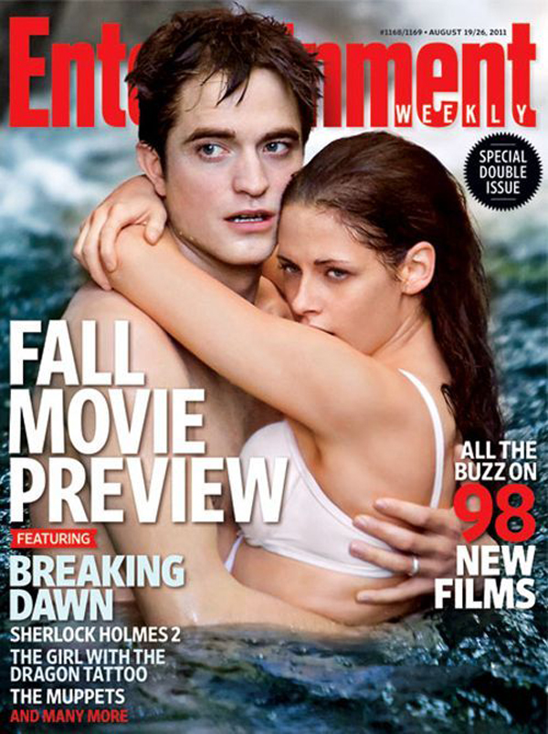 Кристен Стюарт и Роберт Паттинсон  на обложке Entertainment Weekly