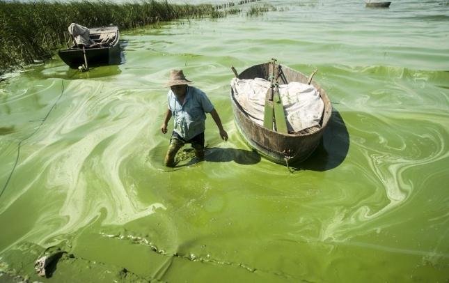 Рыбаки ловтя рыбу в пластилиновой воде в Чаоху.