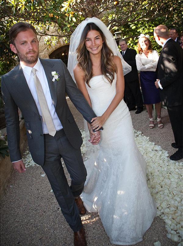 свадебное фото Лили Олдридж