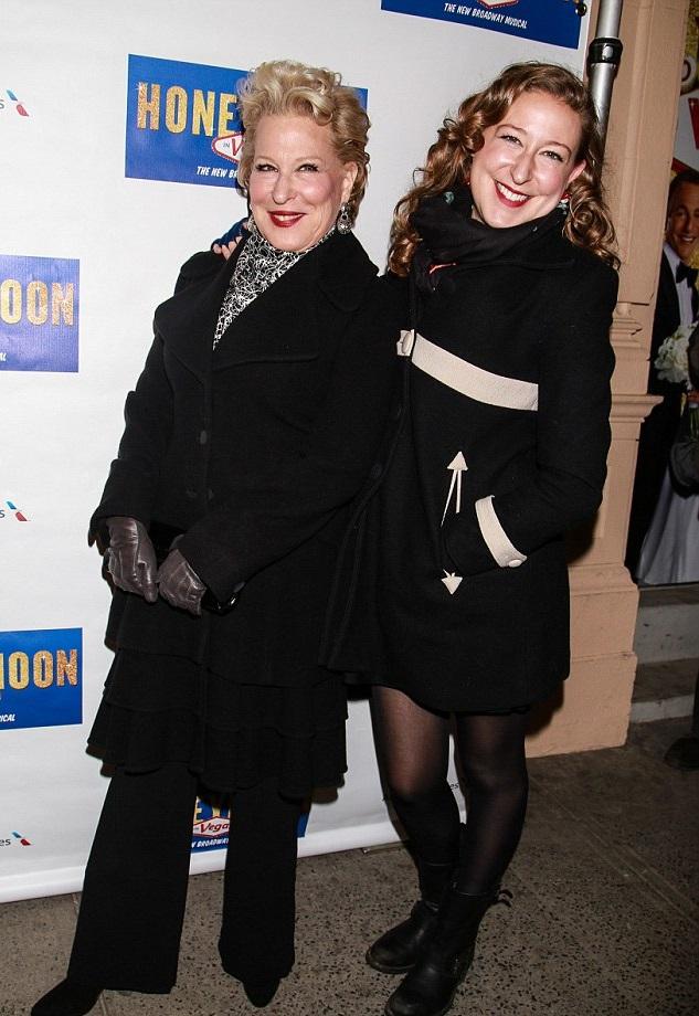 Бет Мидлер с дочкой Софи
