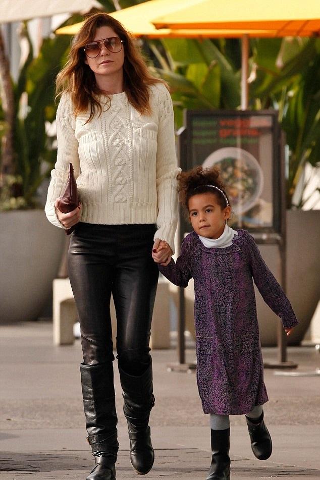 Эллен Помпео с дочерью