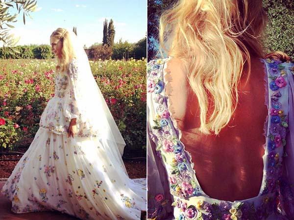 свадебное фото Поппи Делевинь