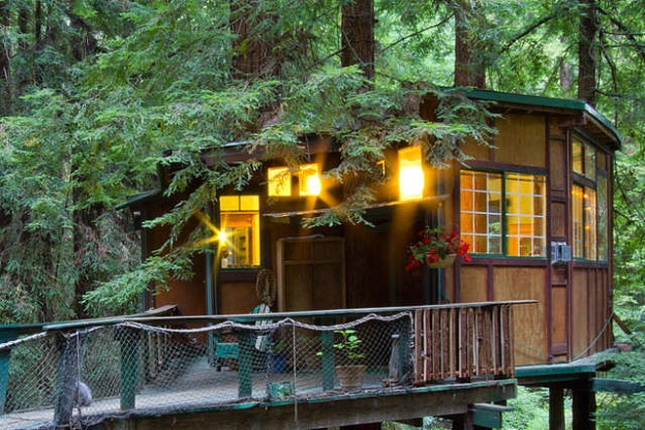 Redwood-Treehouse-Cabin