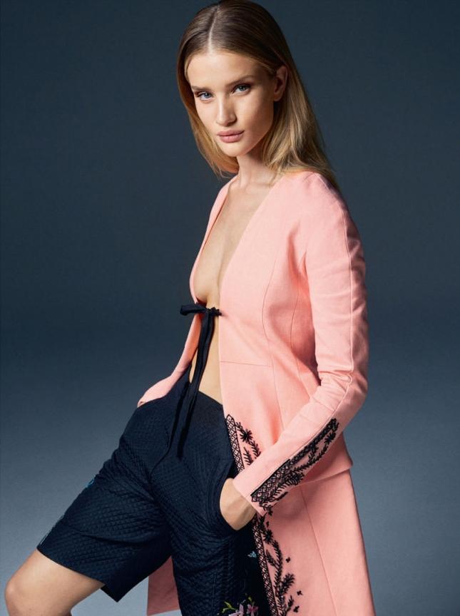 Рози Хантингтон-Уайтли в фотосессии для Elle UK, февраль 2015
