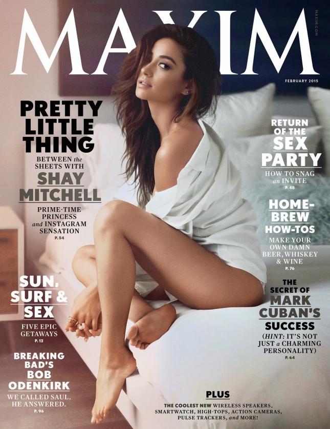 Шэй Митчелл на обложке журнала Maxim, февраль 2015