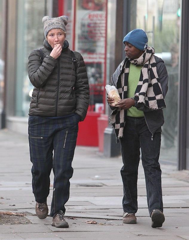 Эмма Томпсон с приемным сыном