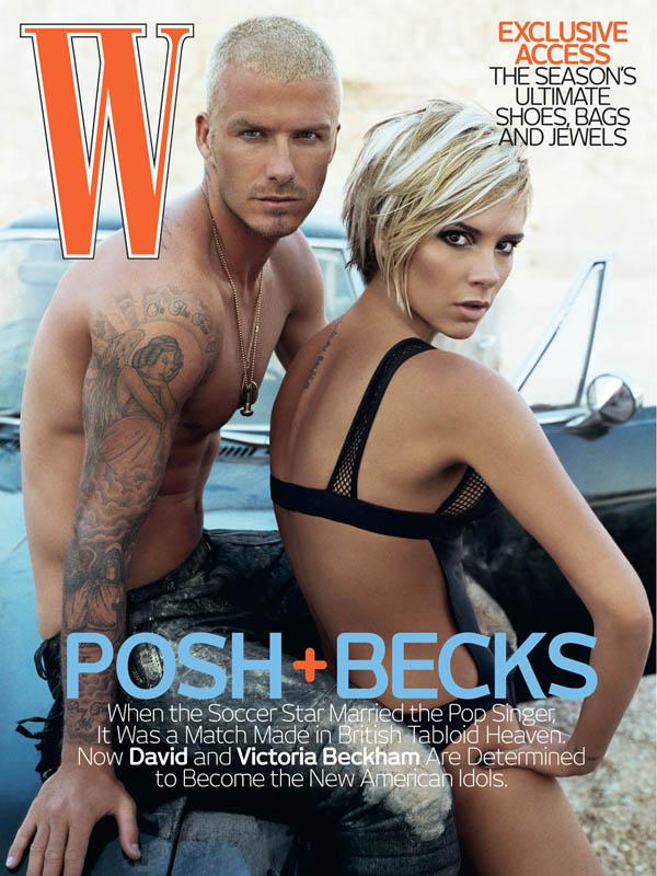 Виктория и Дэвид Бекхэм на обложке W magazine