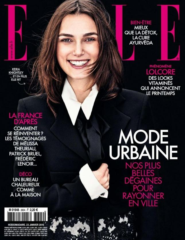 Кира Найтли на обложке Elle Франция, февраль 2015