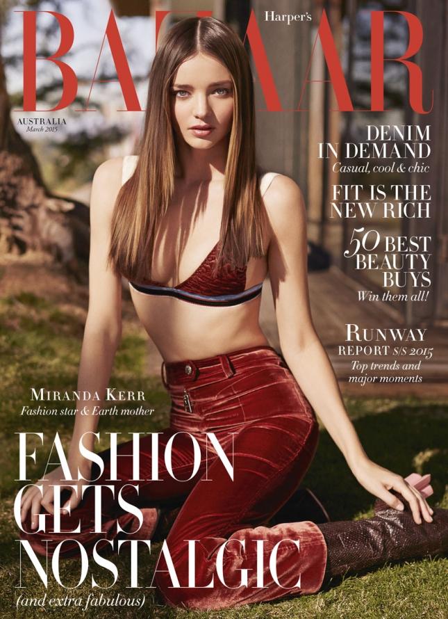 Миранда Керр на обложке Harper's Bazaar Австралия