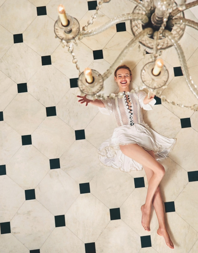 Наталья Водянова на страницах Porter, весна 2015