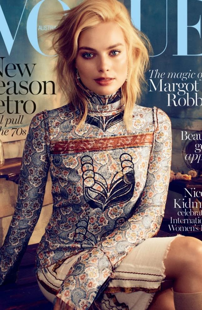 Марго Робби на обложке Vogue Австралия