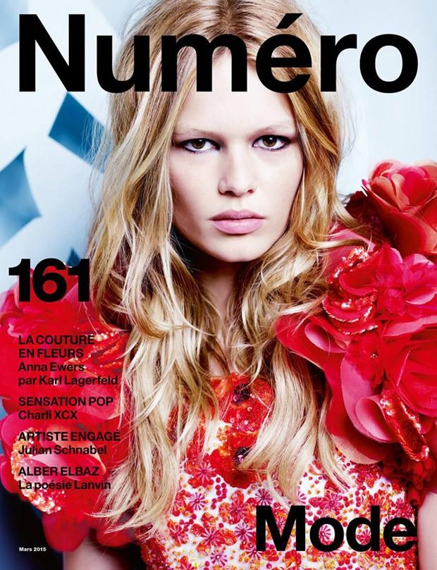 Анна Эверс на обложке Numero, март 2015