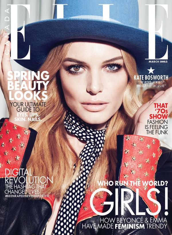Кейт Босуорт на обложке Elle Канада, март 2015