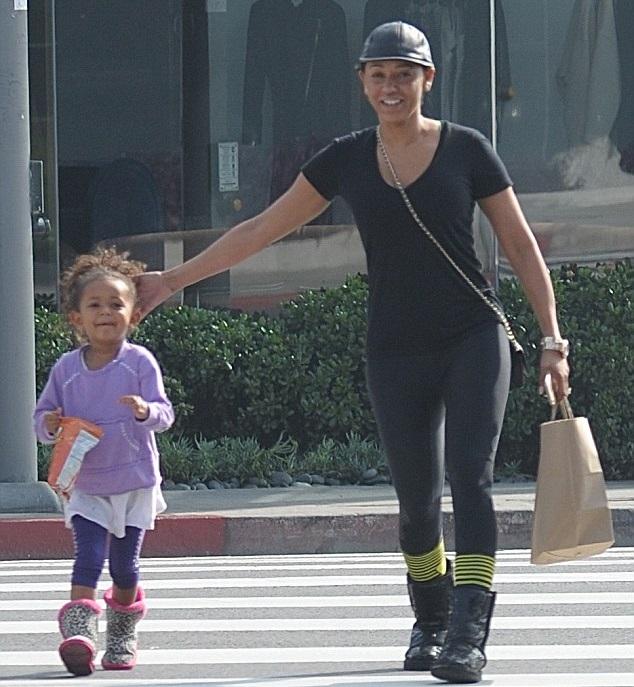 Мелани Браун с дочкой