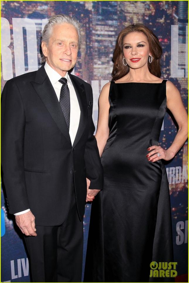 Майкл Дуглас и Кэтрин Зета-Джонс на праздновании 40-летия SNL