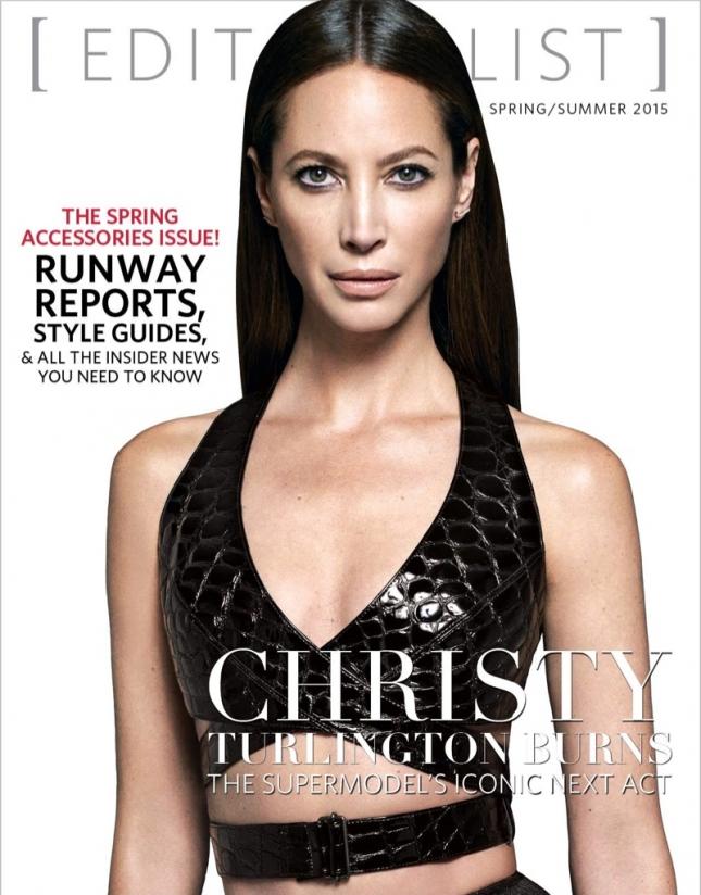 Кристи Тарлингтон на обложке Editorialist