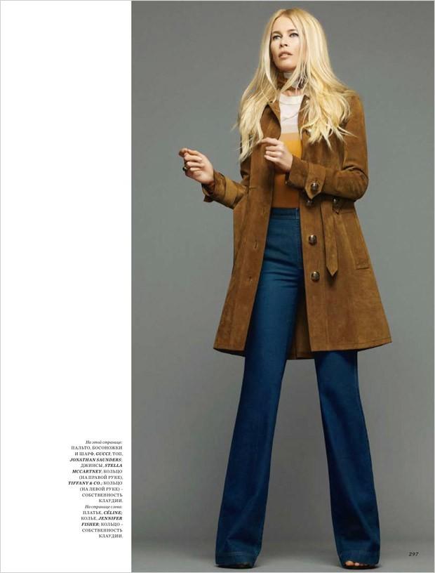 Клаудия Шиффер для Harper's Bazaar Russia