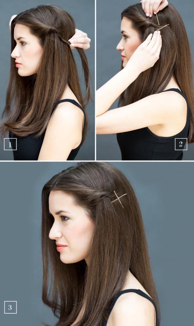 Прически с распущенными волосами и челкой на каждый день