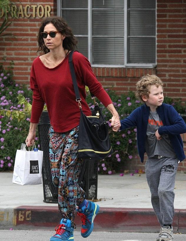 Минни Драйвер с сыном