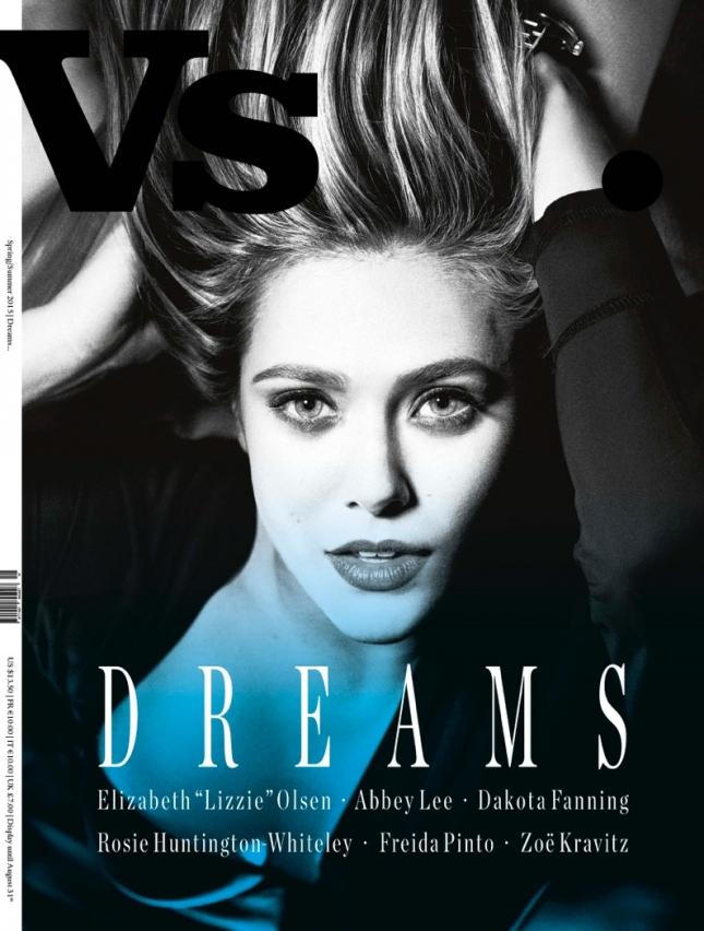 Элизабет Олсен на обложке VS. Magazine