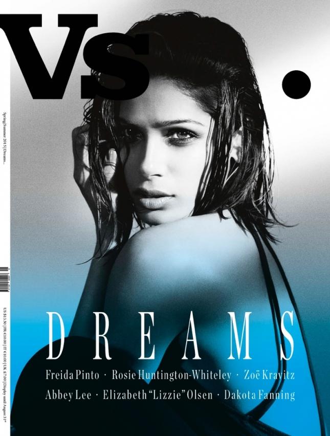 Фрида Пинто на обложке VS. Magazine