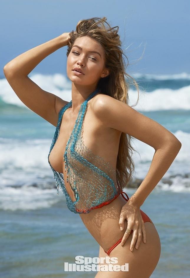 Джиджи Хадид для Swimsuit 2015