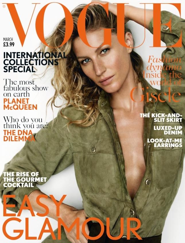 Жизель Бундхен на обложке Vogue UK, март 2015
