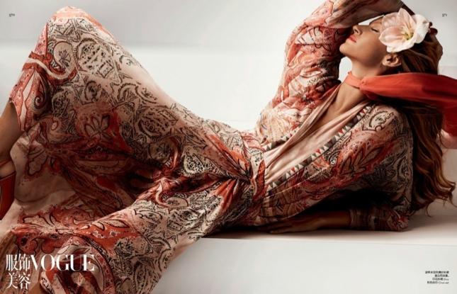 Жизель Бундхен для  Vogue Китай, март 2015