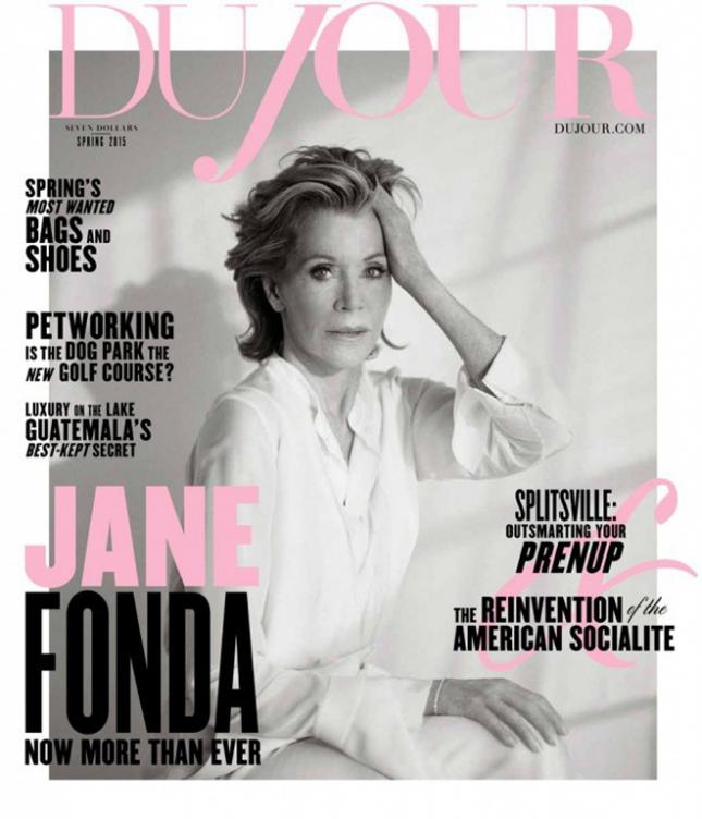Джейн Фонда на обложке DuJour