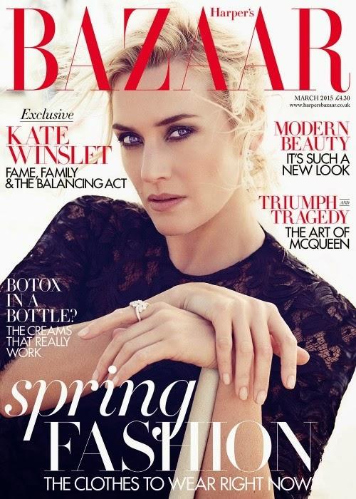 Кейт Уинслет на обложке Harper's Bazaar UK, март 2015