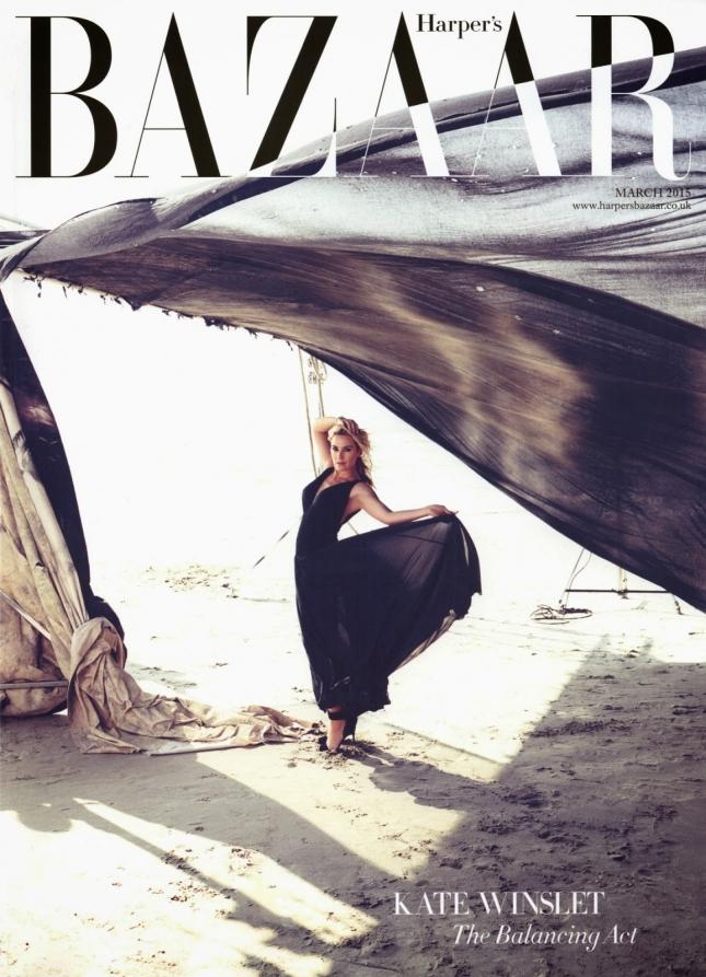 Кейт Уинслет в фотосессии для Harper's Bazaar UK, март 2015