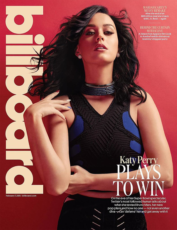 Кэти Перри на обложке  Billboard Magazine