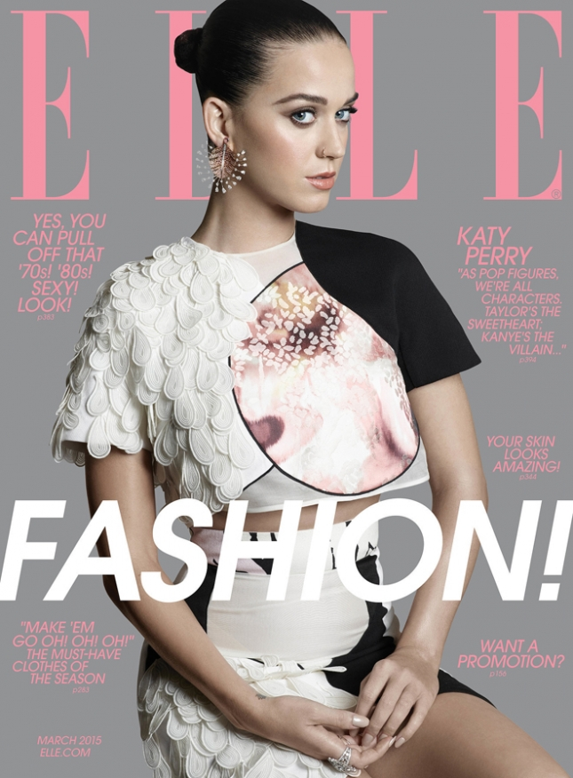 Кэти Перри на обложке Elle США