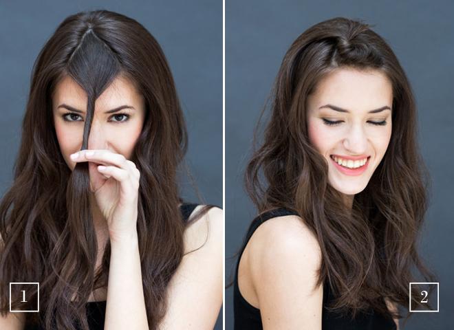Прически на каждый день на прямые волосы средней длины