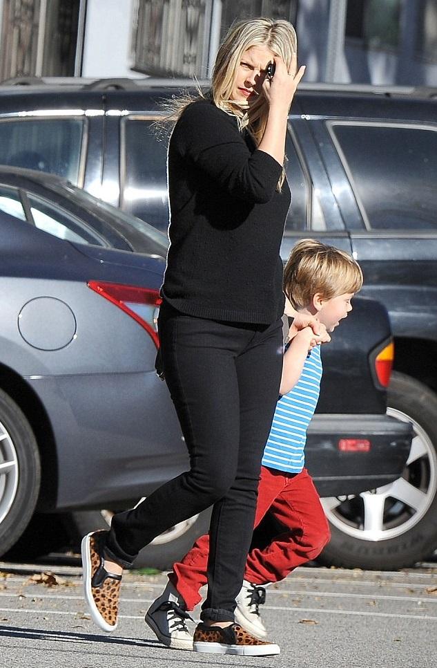 Эли Лартер с сыном