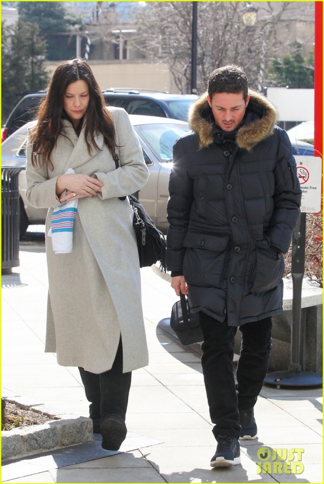 Liv Tyler and Dave Gardner spend another day visiting baby at the hospital